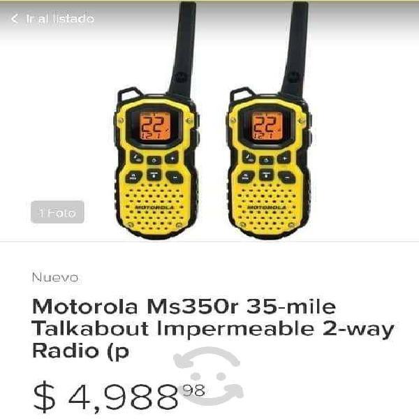 Radios motorola ms350r 35-mile, talkabout, 2 vias