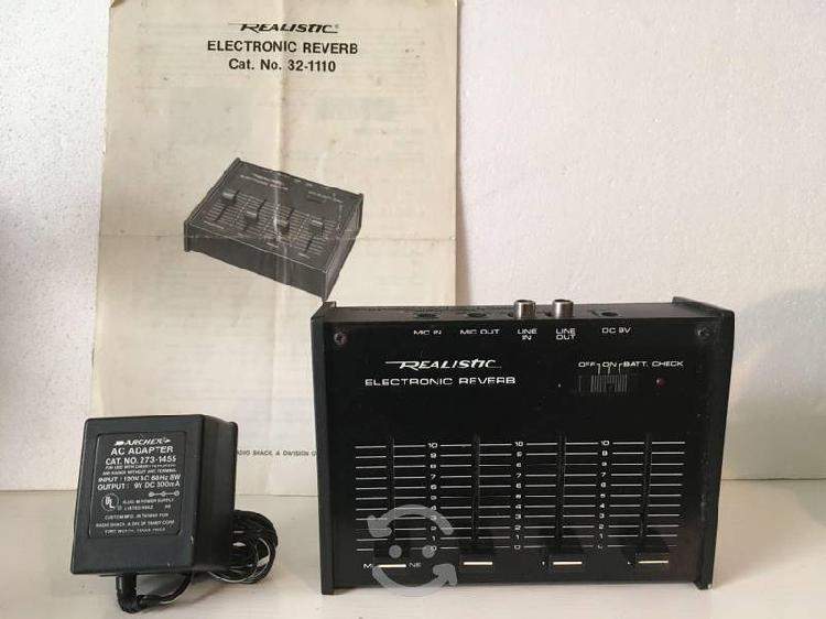 Reverberante electrónico realistic radio-shack
