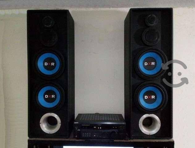 Sonido 5.1 receiver sony bafles dxr