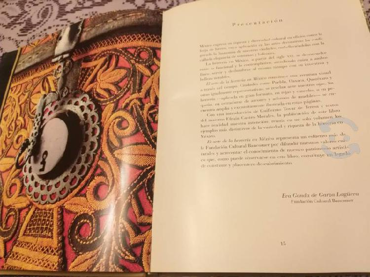 Libro historia de la herreria en mexico pasta dura