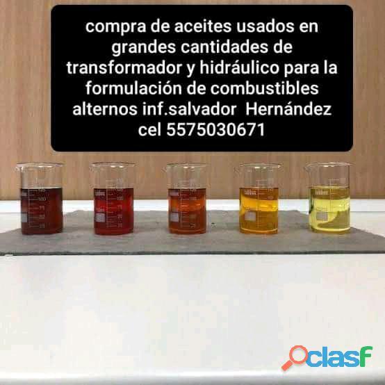 Compra de aceites usados de transformador y hidráulico