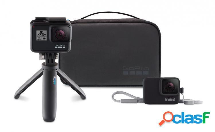 Gopro kit de viaje akttr-001 para gopro, negro - incluye estuche compacto/extensión tripode/ funda con correa