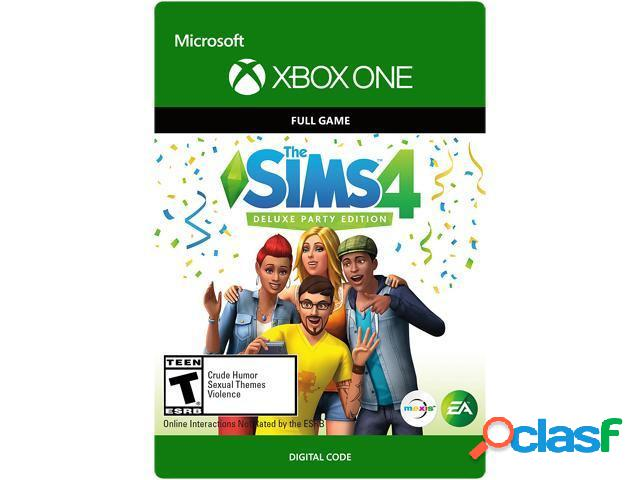 The sims 4 deluxe party edition, xbox one - producto digital descargable