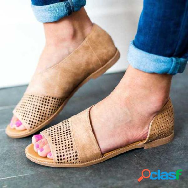 19 nuevo suministro lateral hueco de pescado agujero de la boca zapatos sandalias retro zapatos romanos zapatos de tacón bajo zapatos de gran tamaño