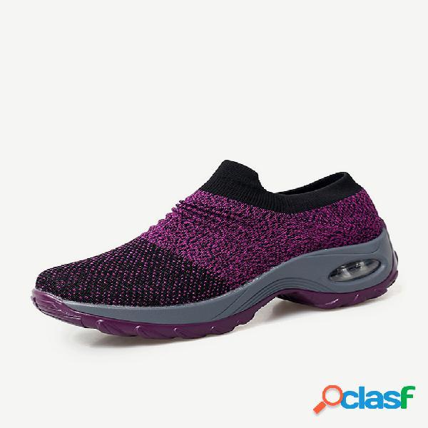 Zapatos de plataforma casual para correr con amortiguación de malla