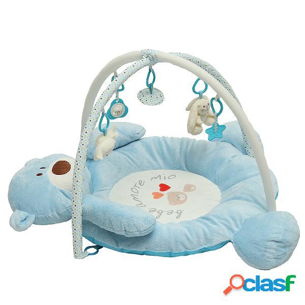 Plegable musical bebé oso alfombra de juego niños suave gimnasio actividad alfombra de piso niños pequeños bebé jugar murciélago