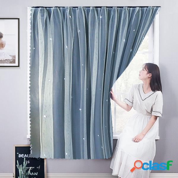Casa de alquiler de cortinas sin perforaciones paño de sombreado autoadhesivo cortina de pantalla de ventana de bahía de dormitorio