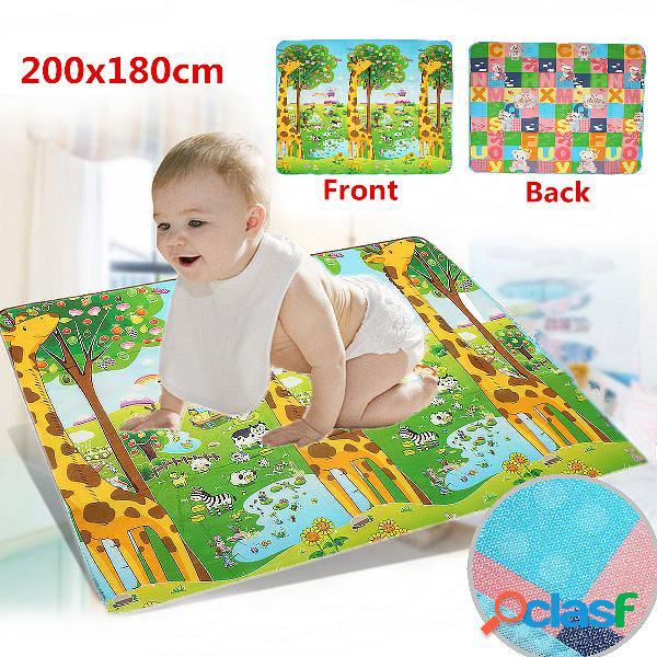 Alfombrilla para gatear para bebés espesor alfombrilla para gatear para bebés juego alfombrilla para jugar giraffe bear patrón