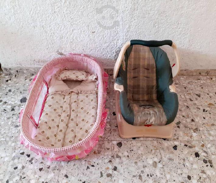 Cuna y porta bebé