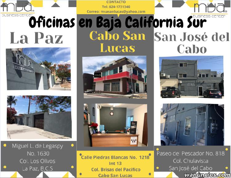 Oficinas equipadas en baja california sur