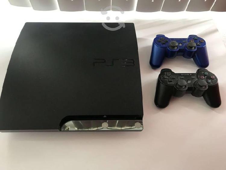 Playstation ps3 slim 500gb de memoria + 14 juegos!