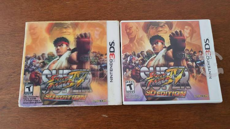 Super street fighter iv 3d edition nintendo 3ds xl