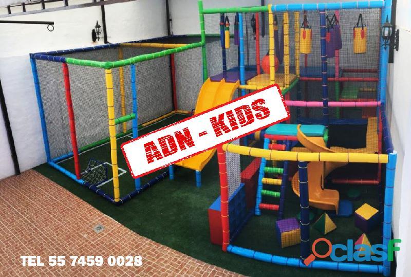 Fabricante de juegos infantiles tipo playground para salones de fiestas