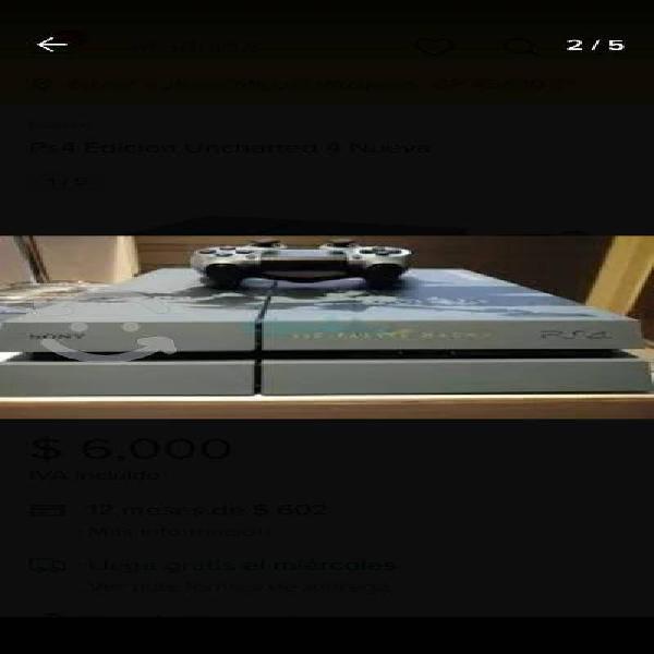 Ps4 edición especial uncharted 4