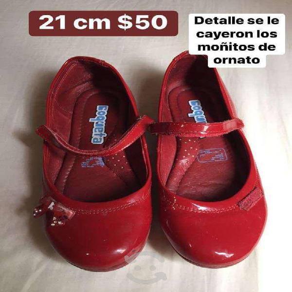 Zapatos rojos de charol 21 cm