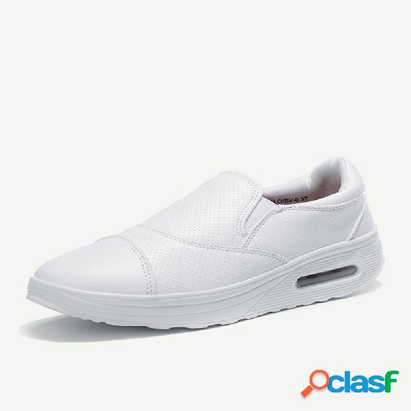 Zapatos de plataforma cómodos acolchados con costura para mujer