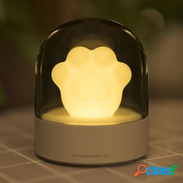 3life 006 creative gato paw musical night light carga usb led night light reproductor de música incorporado