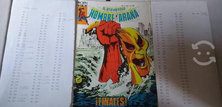 150 ejemplares comics del hombre araña 80s y 90s