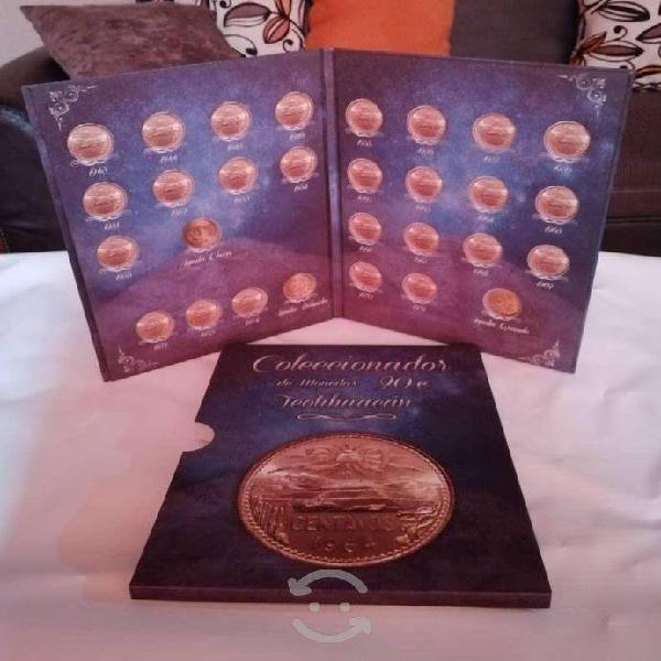 Album monedas 20 centavos cobre teotihuacan!!!