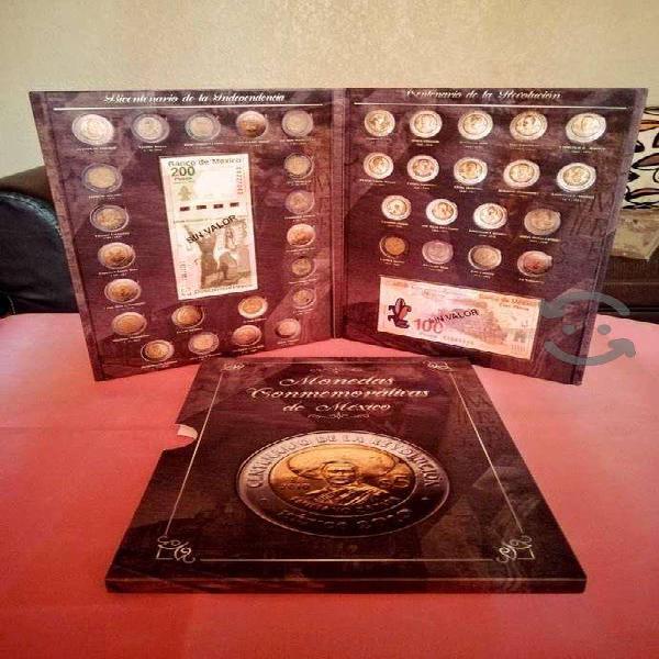 Album para monedas de $5 bicentenario y centenario