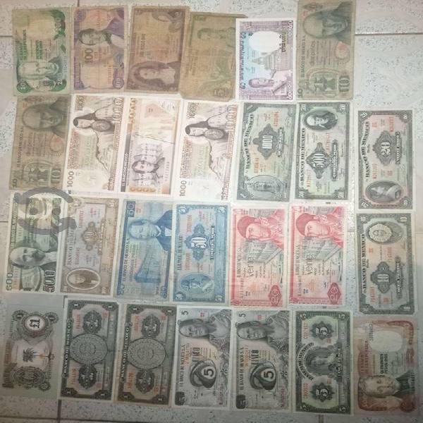 Billetes y monedas antiguos
