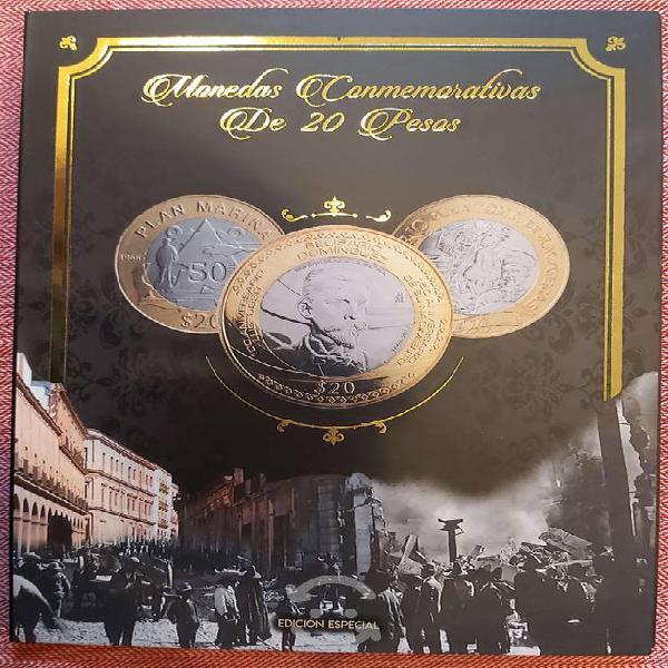 Coleccionador de monedas conmemorativas d 20 pesos
