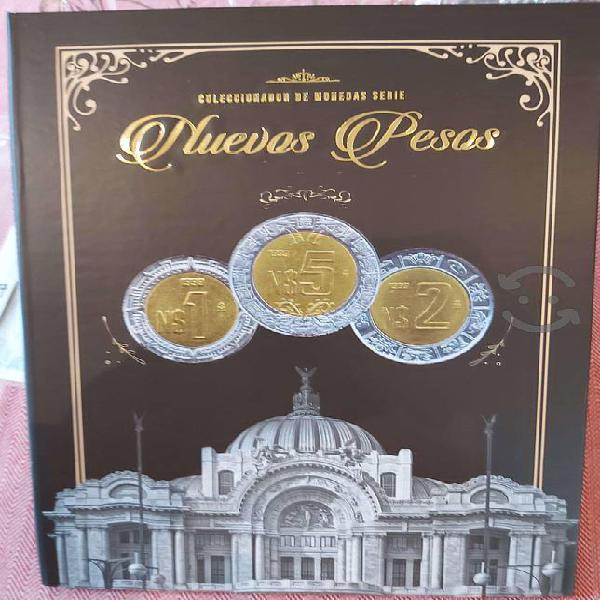Coleccionador de monedas serie nuevos pesos