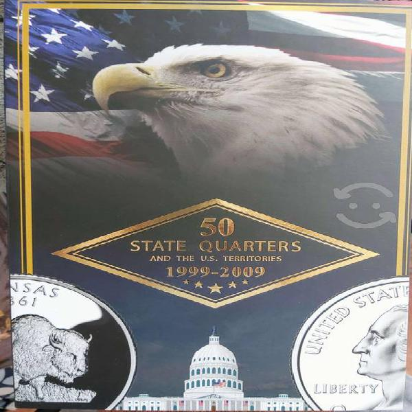 Coleccionador monedas 25 centavos de estados eua