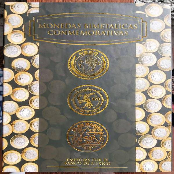 Coleccionador monedas bimetálicas conmemorativas