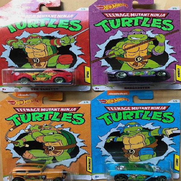 Carros hot wheels tortugas ninja, leonardo c/u