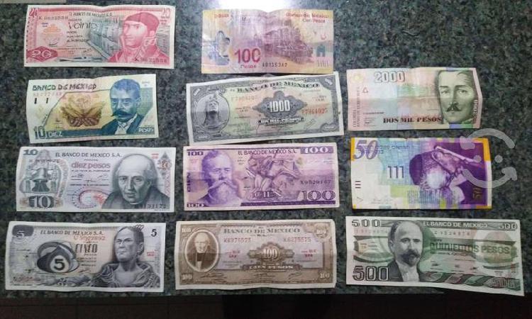 Colección billetes y monedas de méxico y el mundo