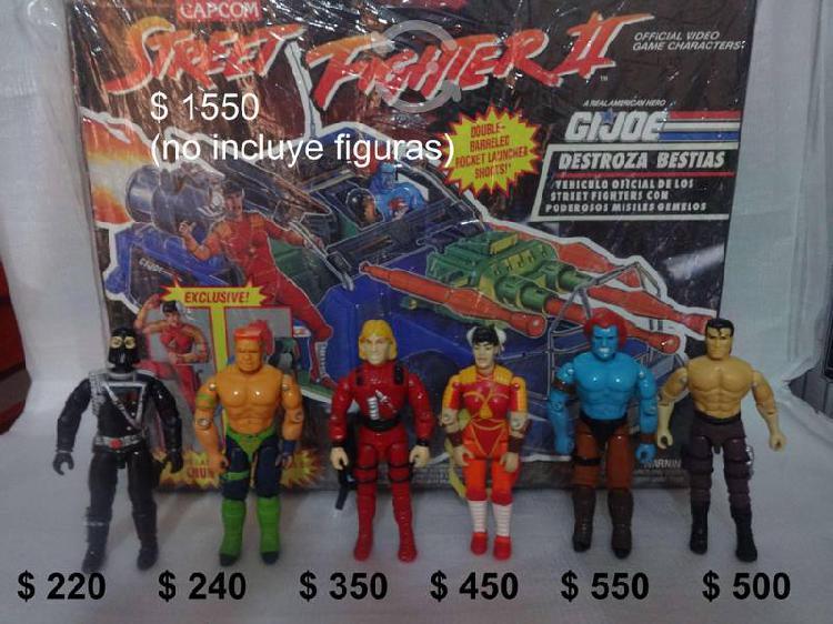 Gijoe 6 figuras + carro street fighter hasbro v/c