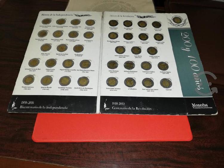 Lbum colección de monedas 5 pesos centenario y bi