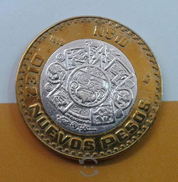 Moneda 10 nuevos pesos 1993 plata 0.925 méxico