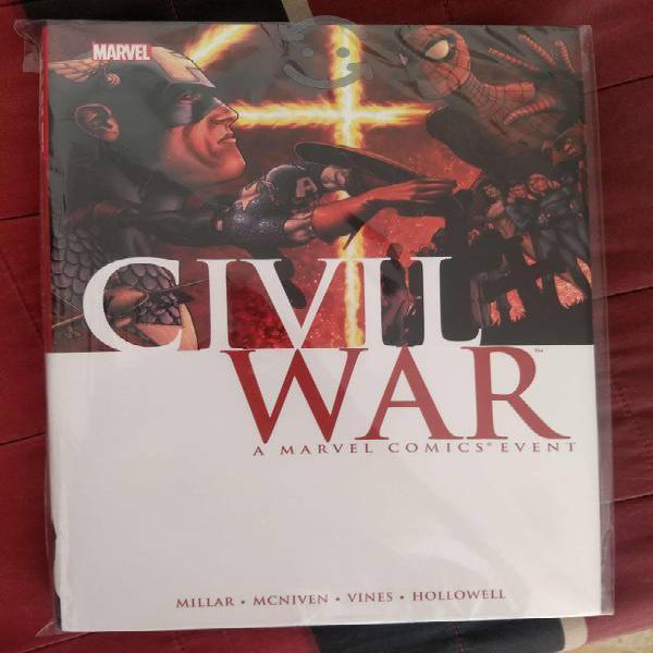 Marvel comics civil war hardcover pasta dura.