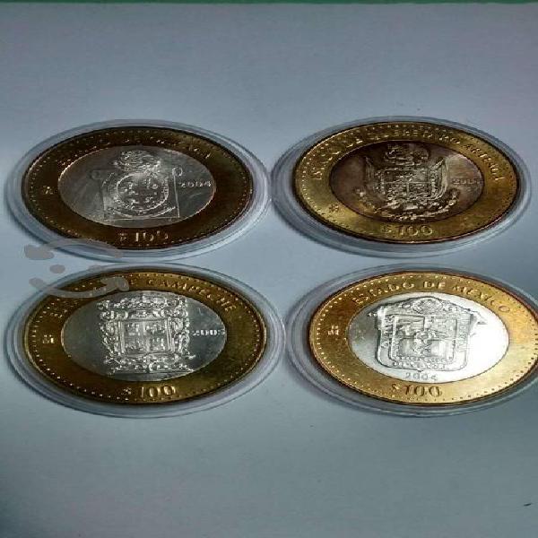 Monedas de 100 pesos los estado