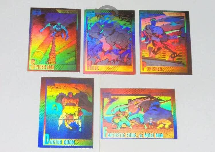 Set completo hologramas marvel universe 1991