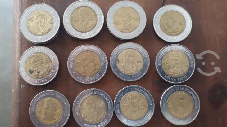 Monedas conmemorativas centenario bicentenario