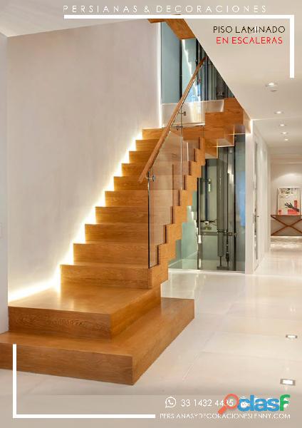 Piso laminado para escaleras diseño original
