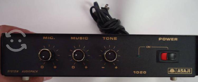 Amplificador mezclador 20 watts asaji 1020