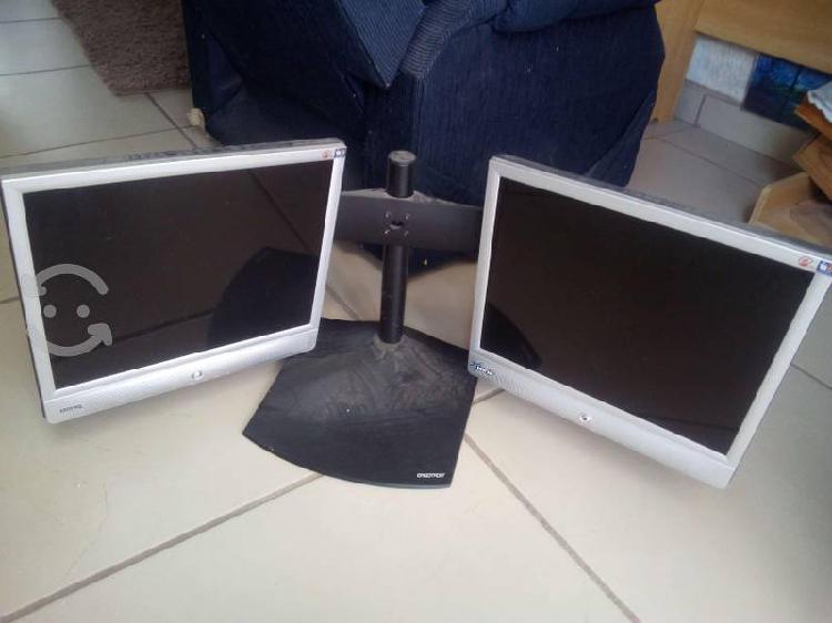 Base ergotron con monitores