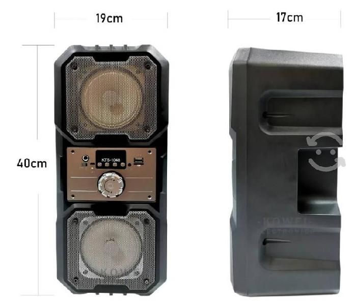 Bocina bluetooth portátil kts-1048 doble vertical
