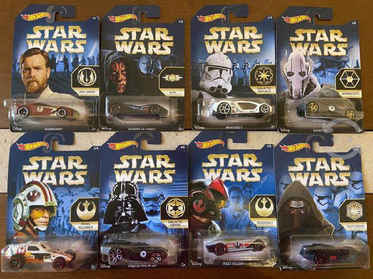 Colección star wars hot wheels