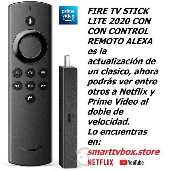 Nuevo fire stick tv lite 2020 control remoto voz
