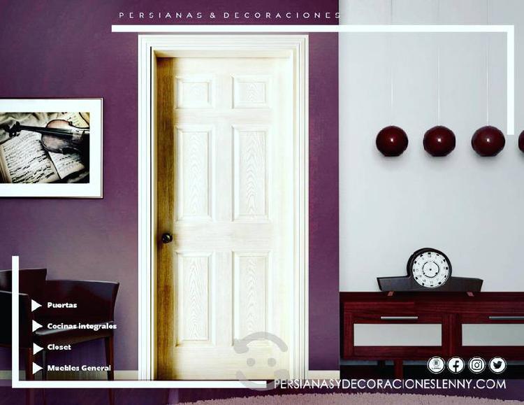 Puertas de madera, cocinas integrales, closet