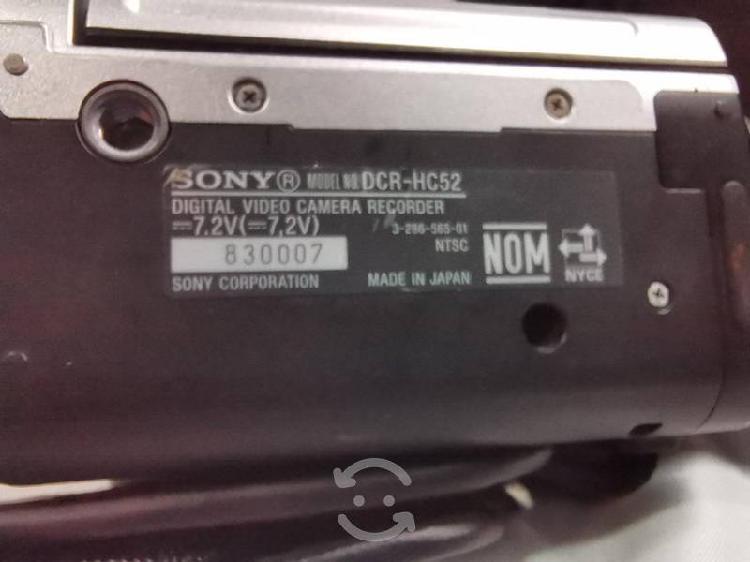 Videocámara sony dcr-hc52 caset minidv