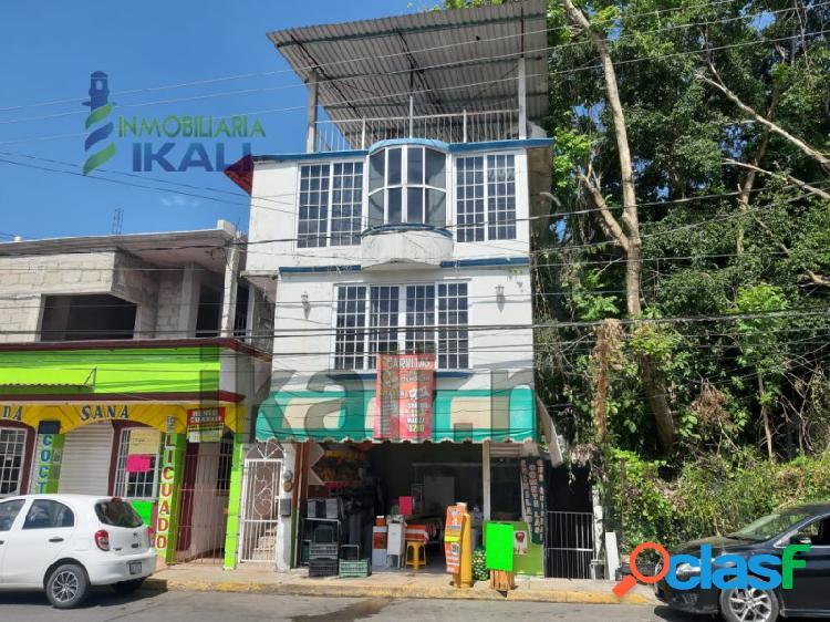 Venta casa y local comercial col. tamps poza rica veracruz, tamaulipas