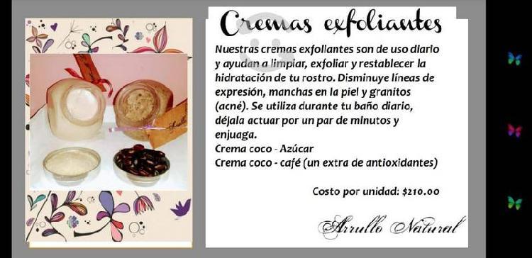 Crema exfoliante arrullo natural