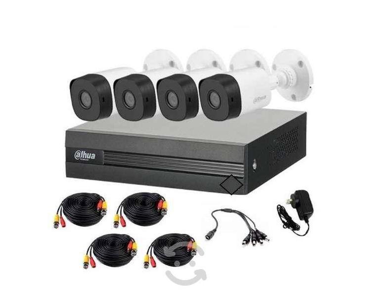 Kit dvr 4 cámaras seguridad policarbonato 1080p vi