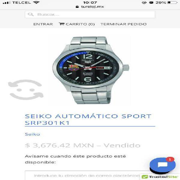 Reloj seiko automatic sport 5 barcelona